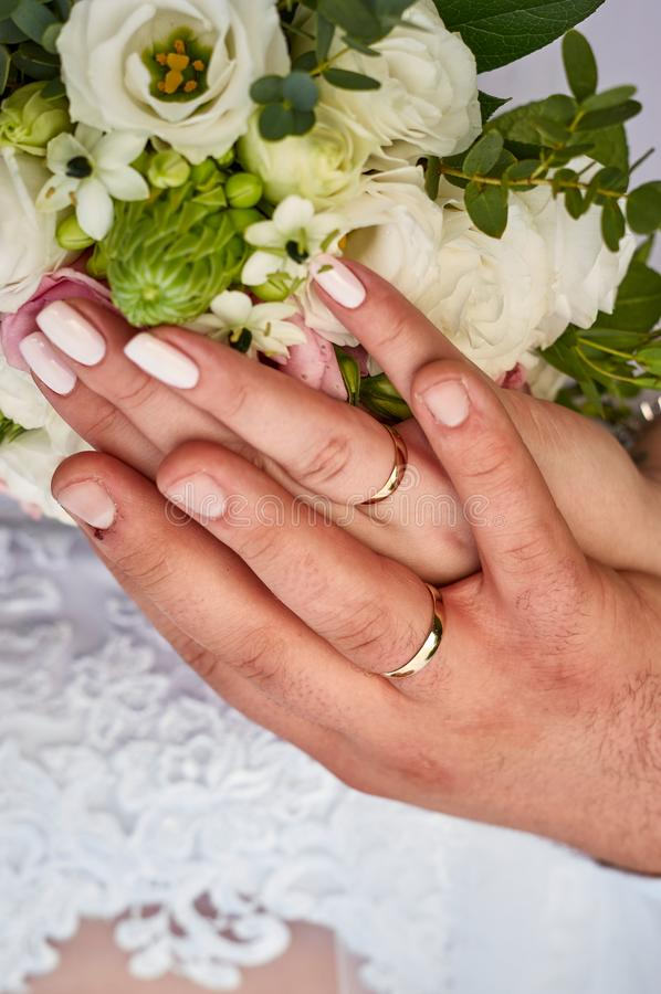 Hands and rings stock images