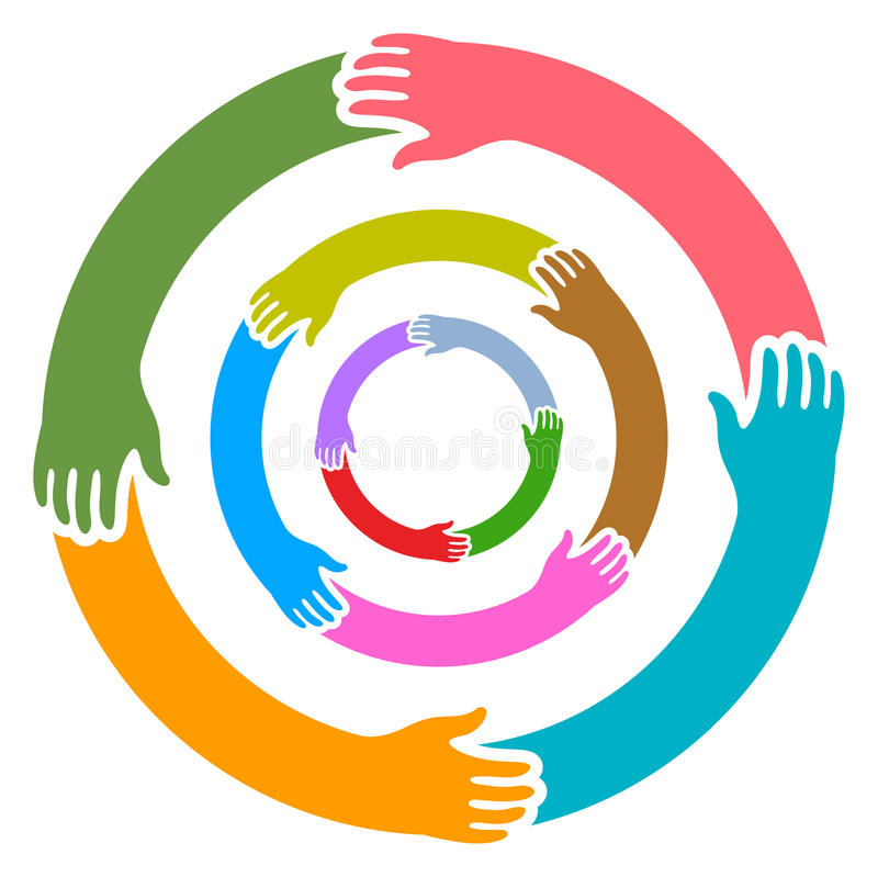 Download Hands round stock vector. Image of diversity, colleagues - 23488003