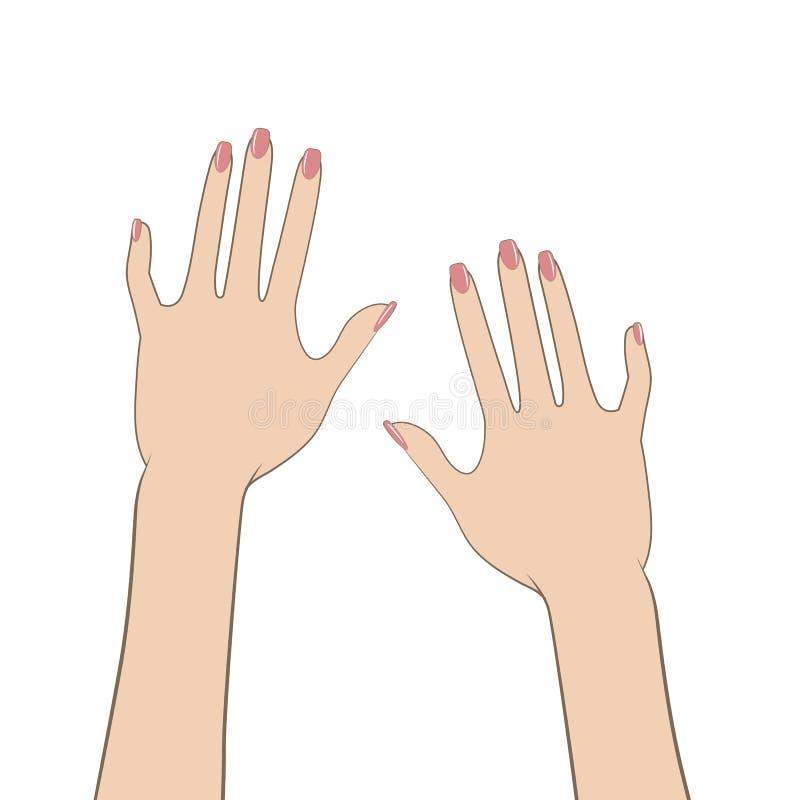 hands s-kvinnor vektor illustrationer