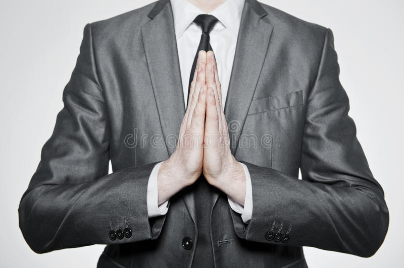 Hands set in pray