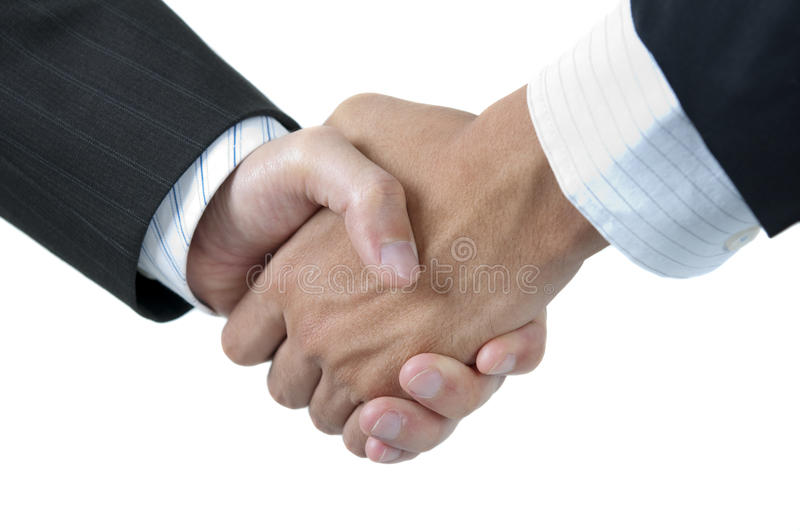 Hands shaking royalty free stock image