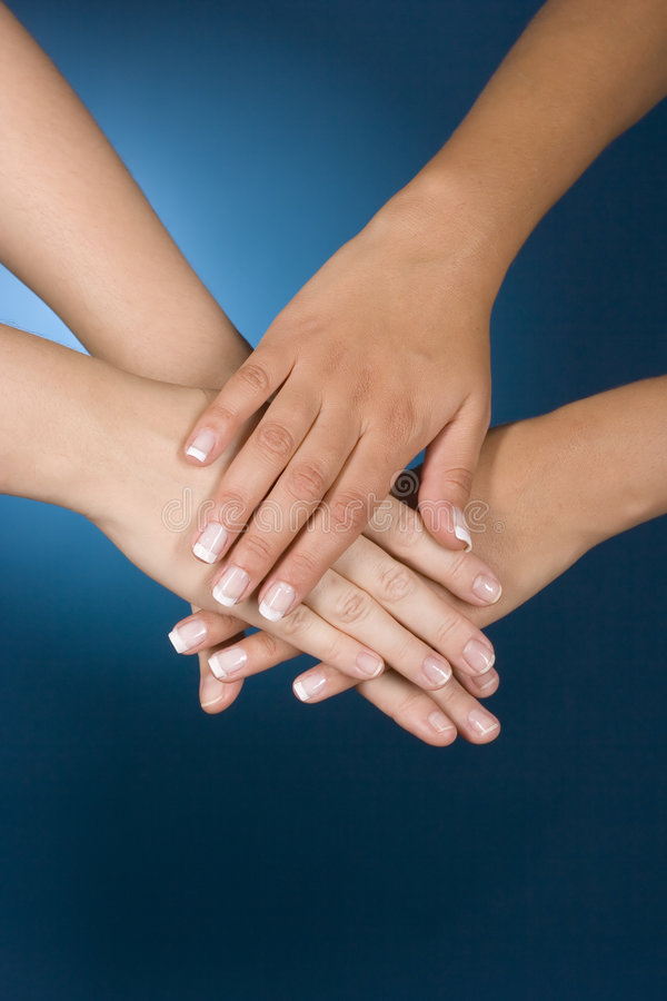 Hands show team stock photography