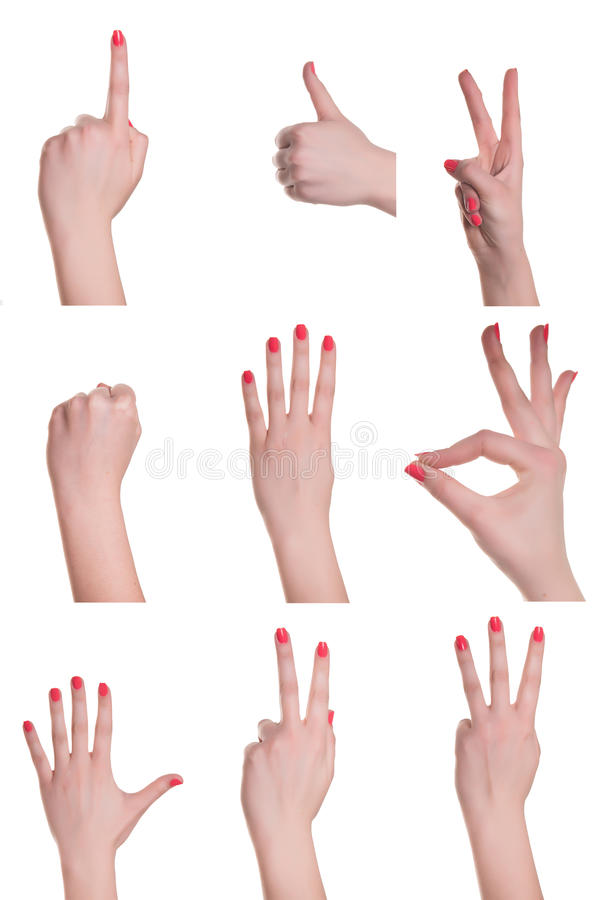 Hands and signs stock image