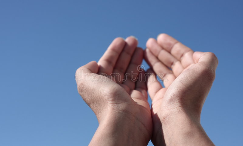 hands skyen in mot fotografering för bildbyråer