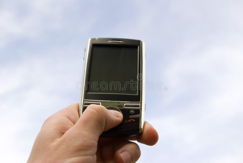 hands smartphone royaltyfri bild