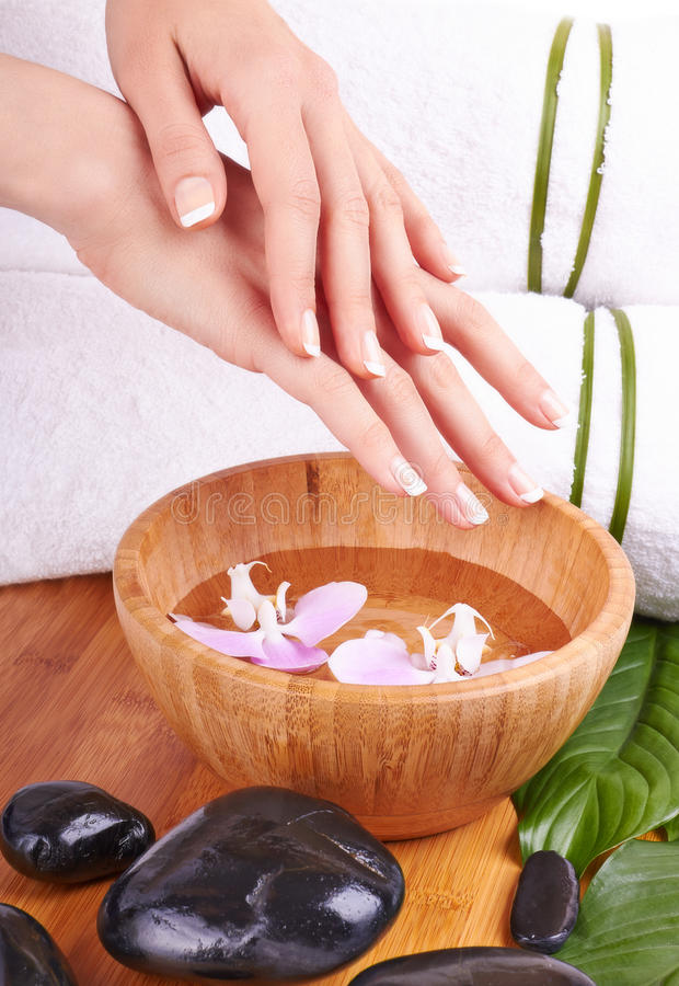 Hands Spa and Manicure royalty free stock photos