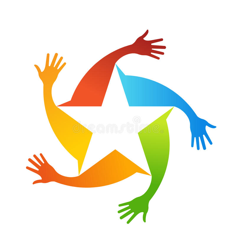 Hands star stock photo