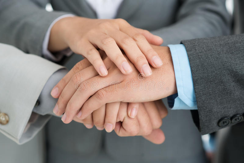 Hands of support stock photo