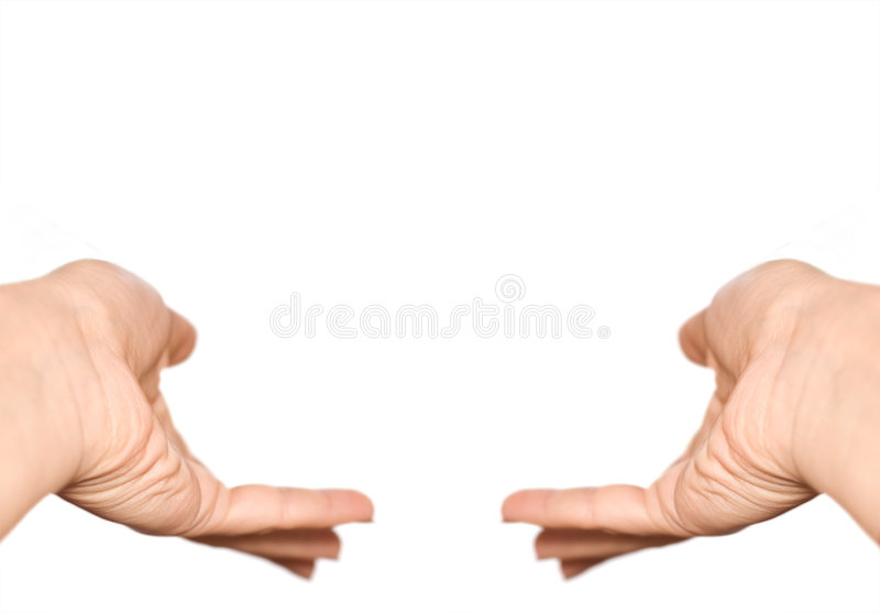 Hands symbol isolated on white royalty free stock image