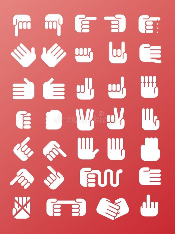 hands symbolen vektor illustrationer