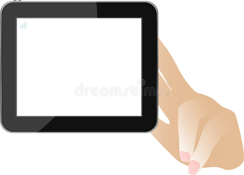 Download Hands With Tablet Computer Isolated On White Stock Image - Image: 23327721