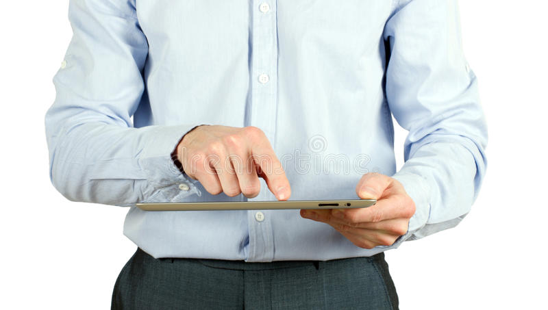 Hands With Tablet Pc Stock Images