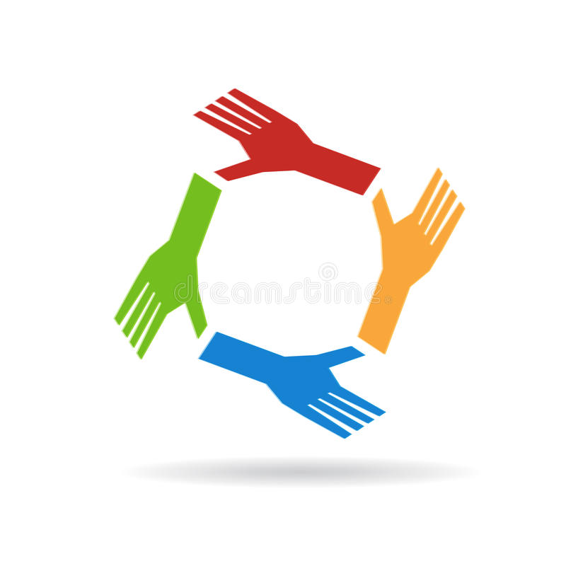 People hands logo stock photography