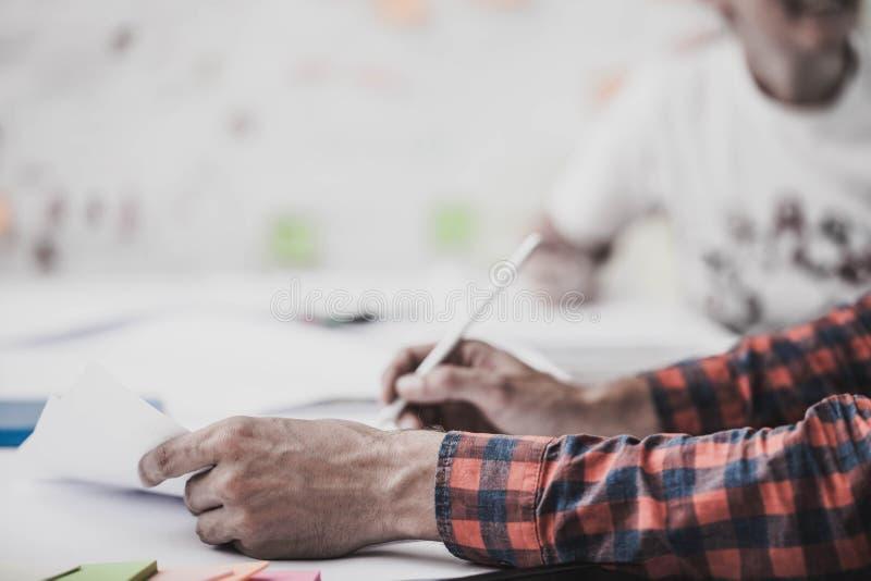 Hands. Team work. Design thinking. Startup stock image