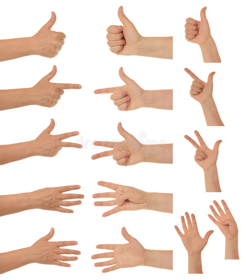 Hands And Thumbs Stock Photo