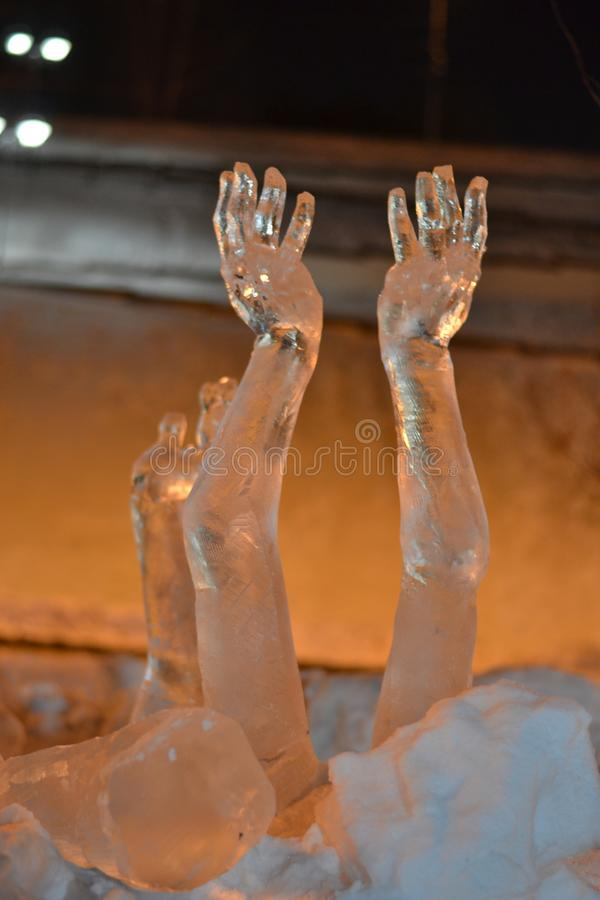 hands to heaven royalty free stock image