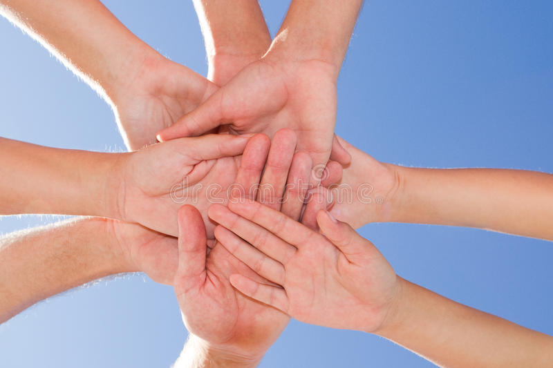 Download Hands together stock image. Image of contemporary, dedicated - 13827611
