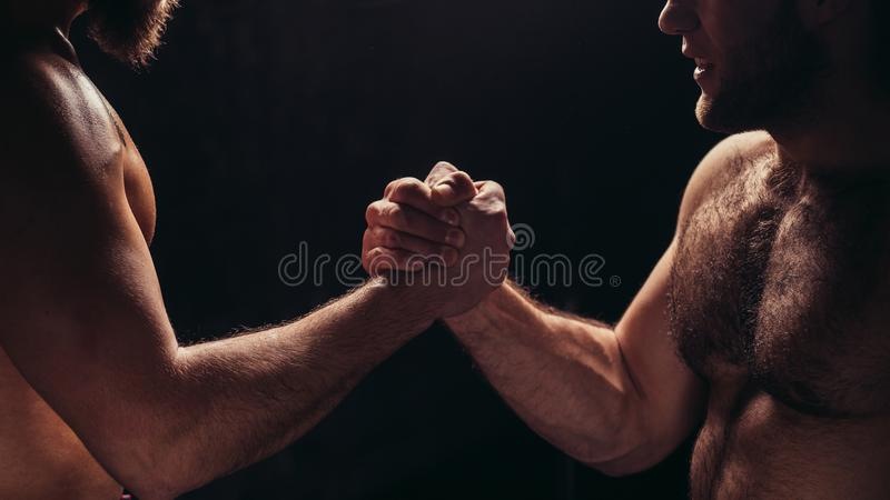 Hands together - fitness team after training - high five. togetherness concept stock photos