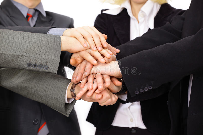 Download Hands on top of each other stock image. Image of corporate - 18592501