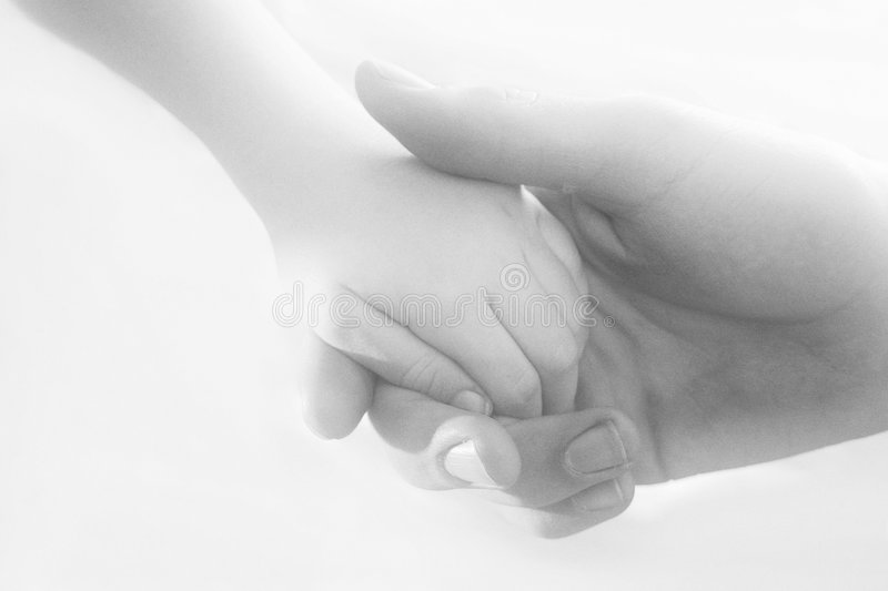 Hands Touching royalty free stock photos