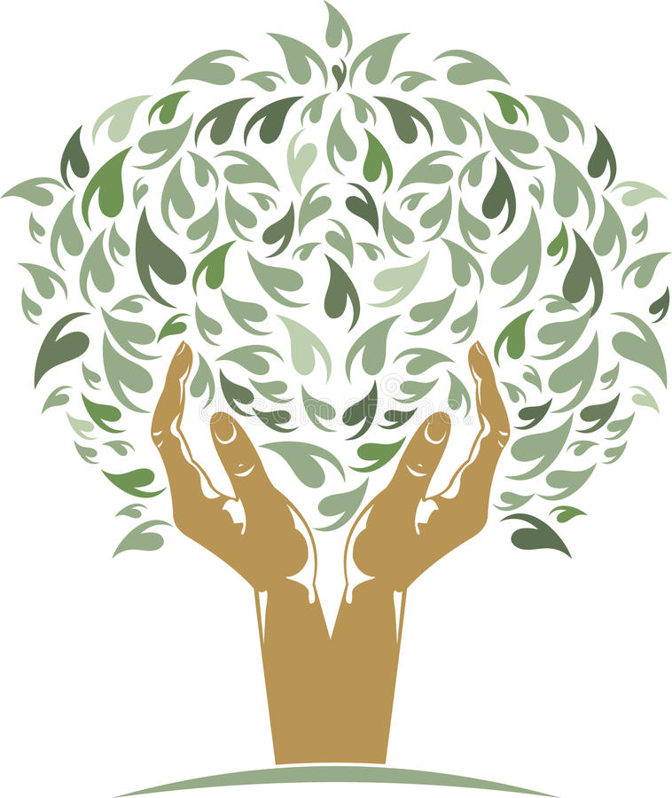 Hands Tree. Vector illustration of Hands Tree isolated stock illustration