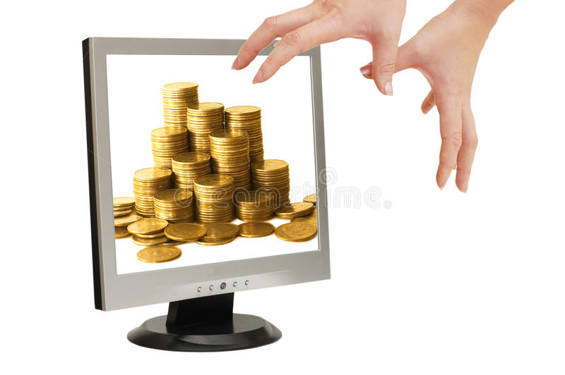 Download Hands Try To Keep Step With Money Royalty Free Stock Image - Image: 13209706