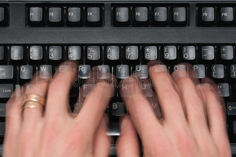 Download Hands typing stock image. Image of fast, fingers, motion - 7686087