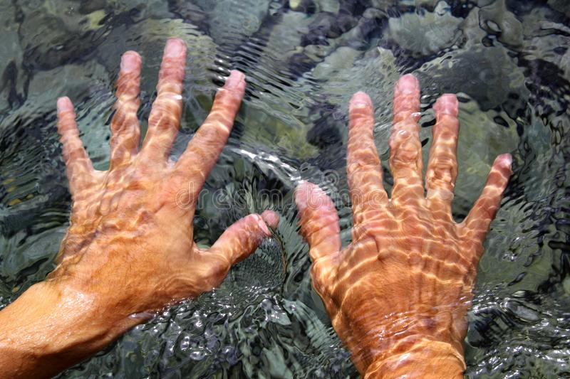 Download Hands Underwater River Water Wavy Shapes Stock Image - Image: 18058145