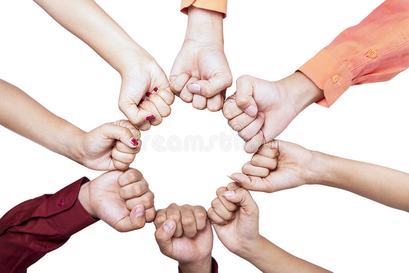 Download Hands of unity - isolated stock photo. Image of circle - 29610766