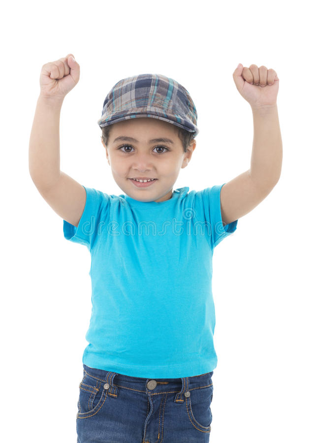 Hands Up Boy royalty free stock photography
