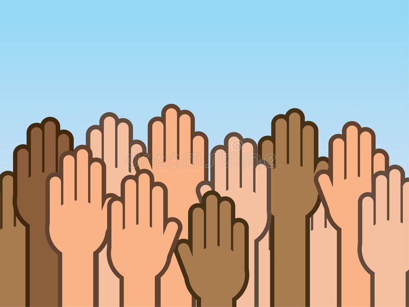 Download Hands Up Many stock vector. Illustration of caucasian - 31030748