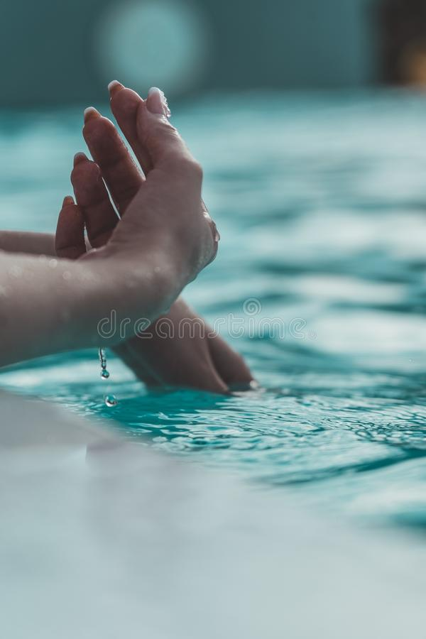 Hands and water stock photos