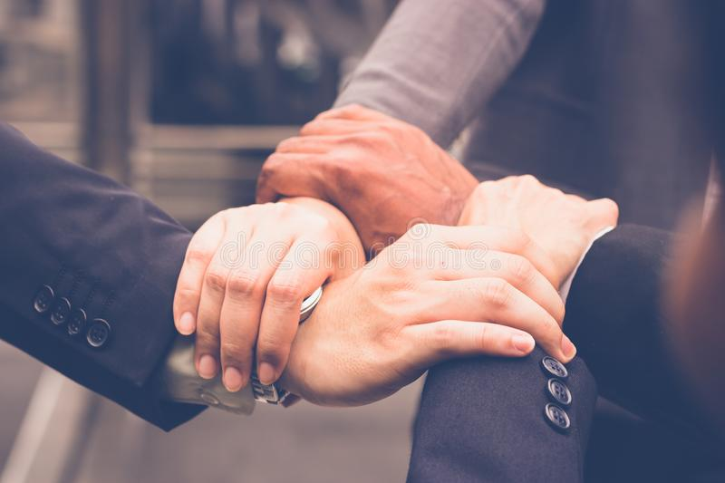 Hands Were A Collaboration Concept Stock Photo - Image of ...