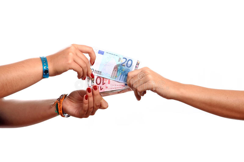 Download Hands width cash stock image. Image of banknote, euro - 14085663