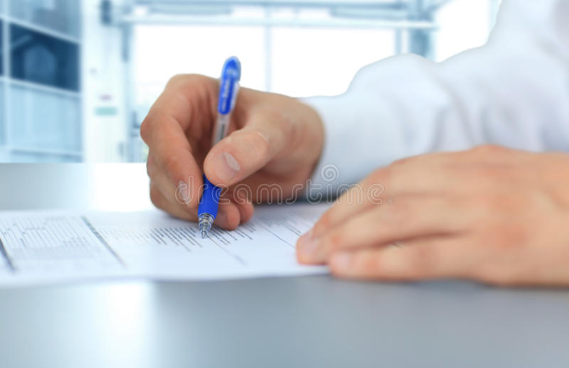 Download Hands writing stock image. Image of businesspeople, male - 28427451