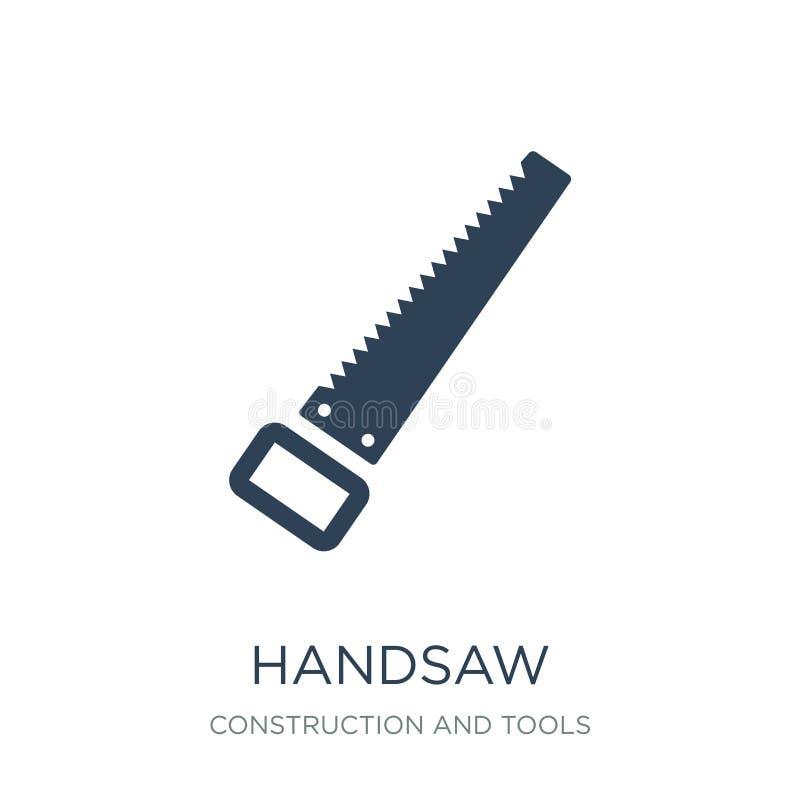 Handsawikone in der modischen Entwurfsart Handsawikone lokalisiert auf weißem Hintergrund einfaches und modernes flaches Symbol d stock abbildung