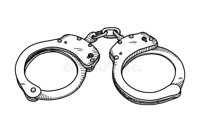 Handschellen-Gekritzel stock abbildung