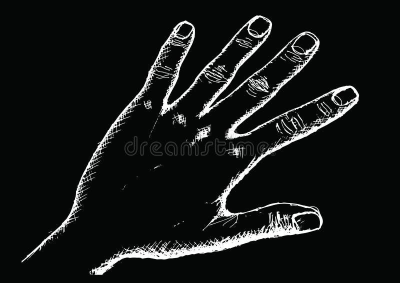 Handschets door Pen royalty-vrije illustratie