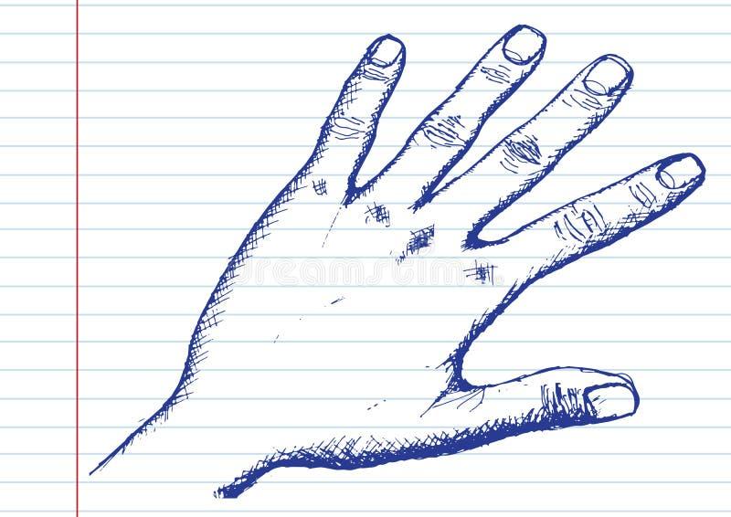Handschets door Pen stock illustratie