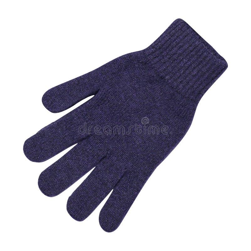 Handschoen die op een wit wordt geïsoleerd stock foto's