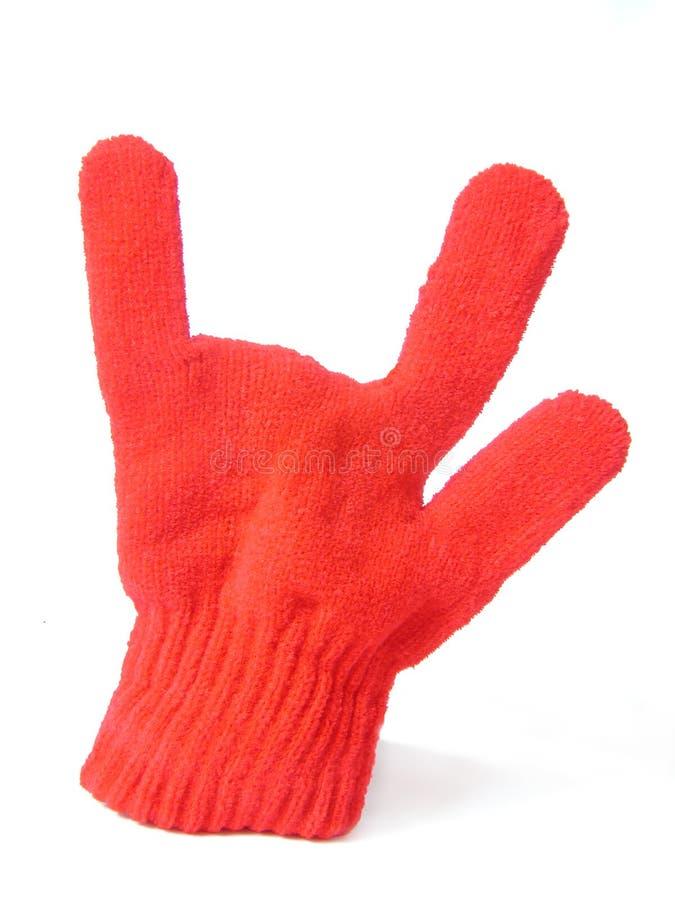 Handschoen met houding stock afbeeldingen