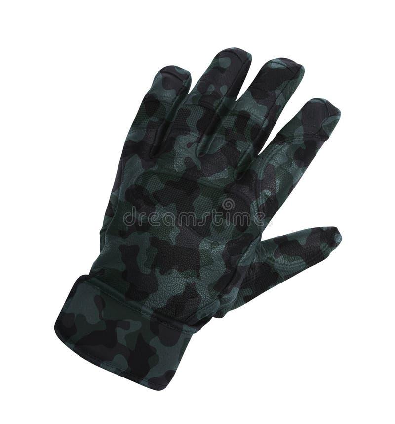 Handschoen op wit wordt geïsoleerd dat royalty-vrije stock foto