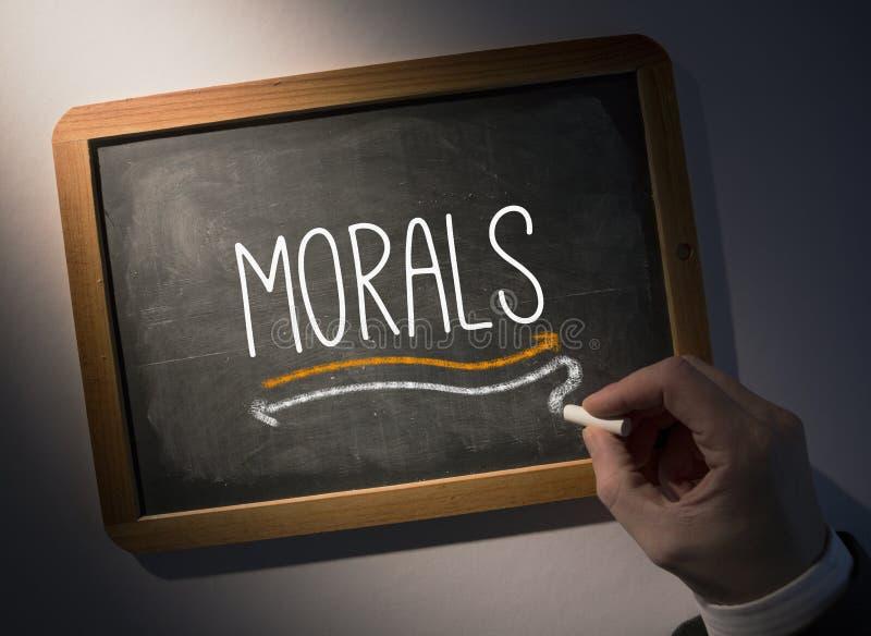 Handschrift-Moral auf Tafel lizenzfreies stockfoto