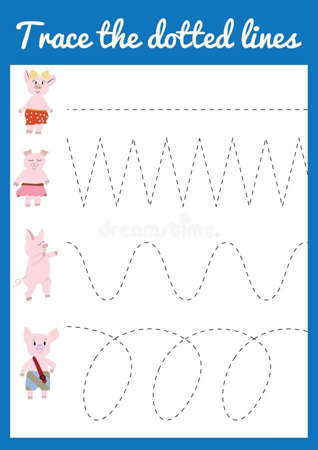 handschriftspraxisblatt p dagogisches kinderspiel bedruckbares arbeitsblatt f r kinder mit. Black Bedroom Furniture Sets. Home Design Ideas