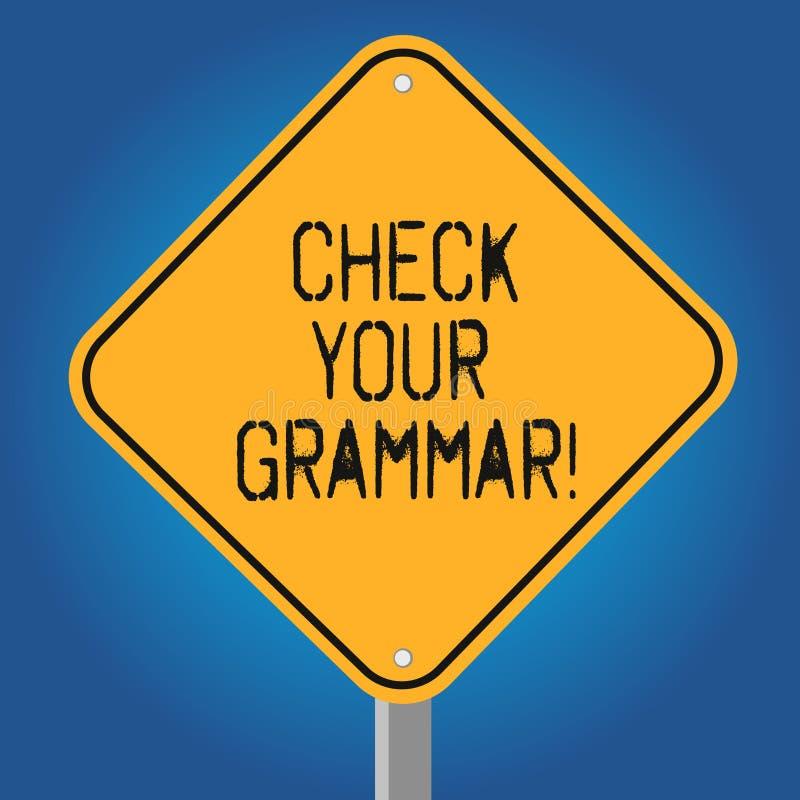 Handschriftstext überprüfen Ihre Grammatik Kontextabhängige Rechtschreibungskorrekturinterpunktion der Konzeptbedeutung, die frei lizenzfreie abbildung