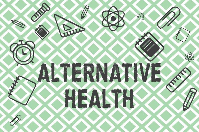 Handschriftstext alternative Gesundheit Konzept, das Arztpraxen bedeutet, die nicht Teil Standardsorgfalt sind lizenzfreie abbildung
