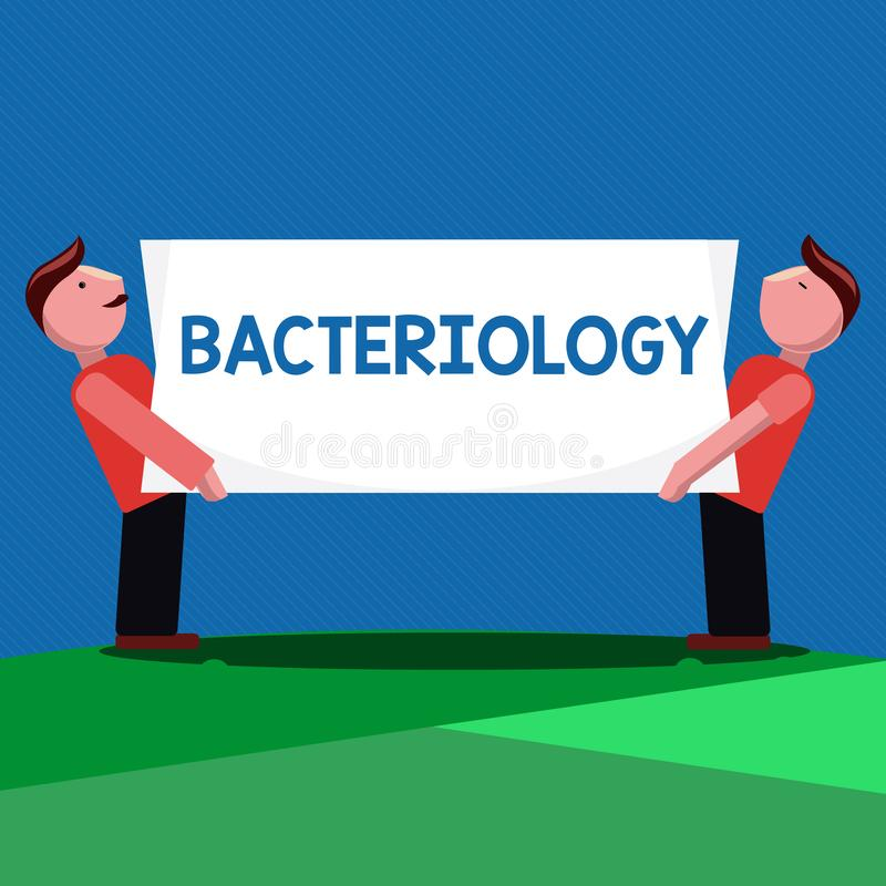 Handschriftstext Bakteriologie Konzeptbedeutung Niederlassung von Mikrobiologie beschäftigend Bakterien und ihren Gebrauch stock abbildung