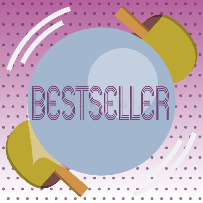 Handschriftstext Bestseller Konzeptbedeutung Buchprodukt verkauft in der erfolgreichen Literatur der großen Zahlen vektor abbildung