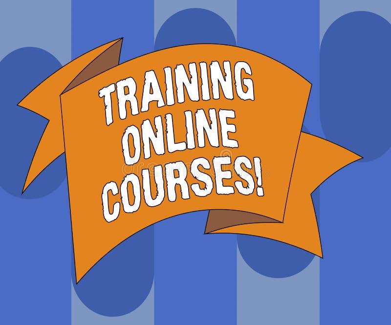 Handschriftstext, der ausbildende on-line-Kurse schreibt Die Konzeptbedeutung liefern eine Reihe Lektionen an ein web browser fal lizenzfreie abbildung