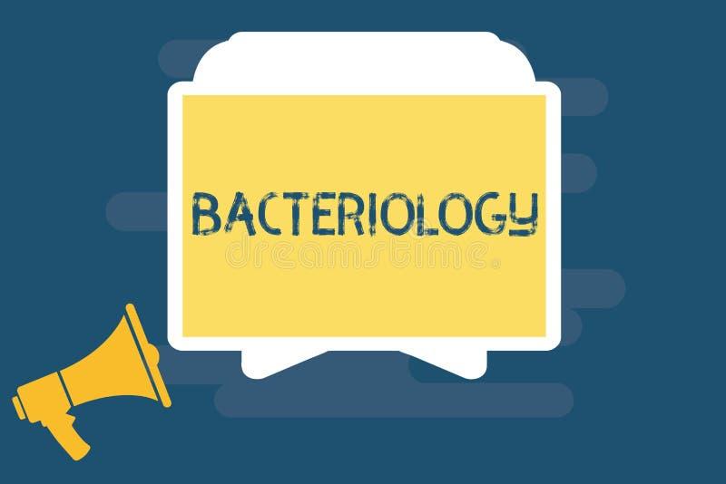 Handschriftstext, der Bakteriologie schreibt Konzeptbedeutung Niederlassung von Mikrobiologie beschäftigend Bakterien und ihren G vektor abbildung